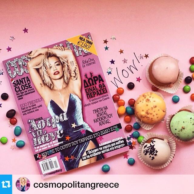 Το καινούριο, σούπερ εορταστικό cosmopolitan με τη Rita Ora είναι πλεον στα περίπτερα και εμείς το γιορτάζουμε στο γραφείο με τον ανάλογο τρόπο ☺??? #CosmopolitanGR #cosmo2015 #τονουσουόμορφεκόσμε